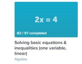 Algebra Progress 6 Mar 2017