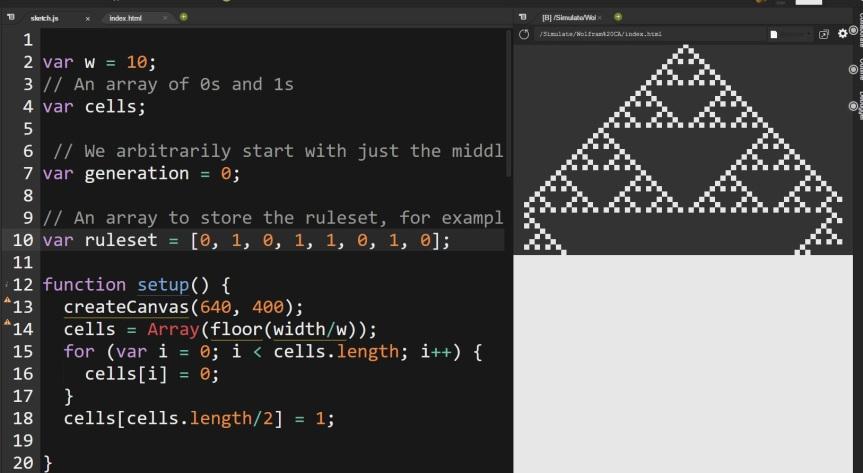 Wolfram CA Simulation 24 Mar 2017