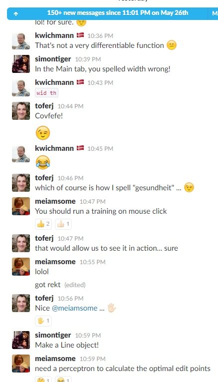 Slack Chat Neural Networks 2 Jun 2017