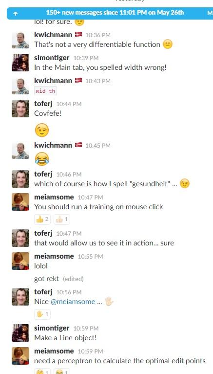Slack Chat Neural Networks 2 Jun 2017