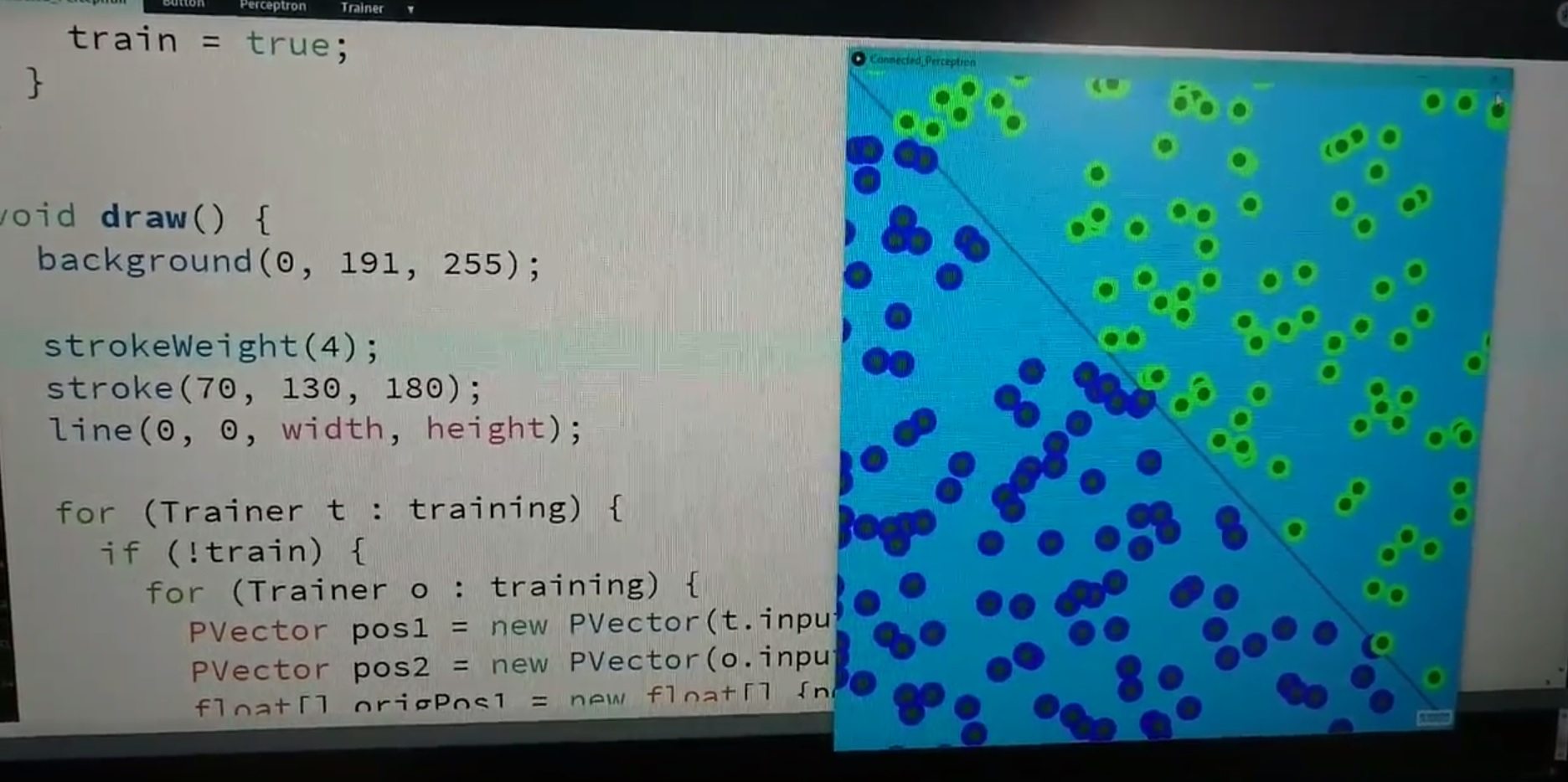 Connected Perceptrons in Processing 26 Jul 2017
