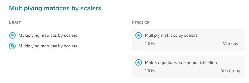 Matrices 20 September 2017