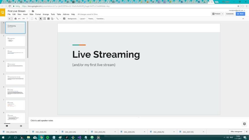 Presentation First Livestream 1 Nov 2017 2